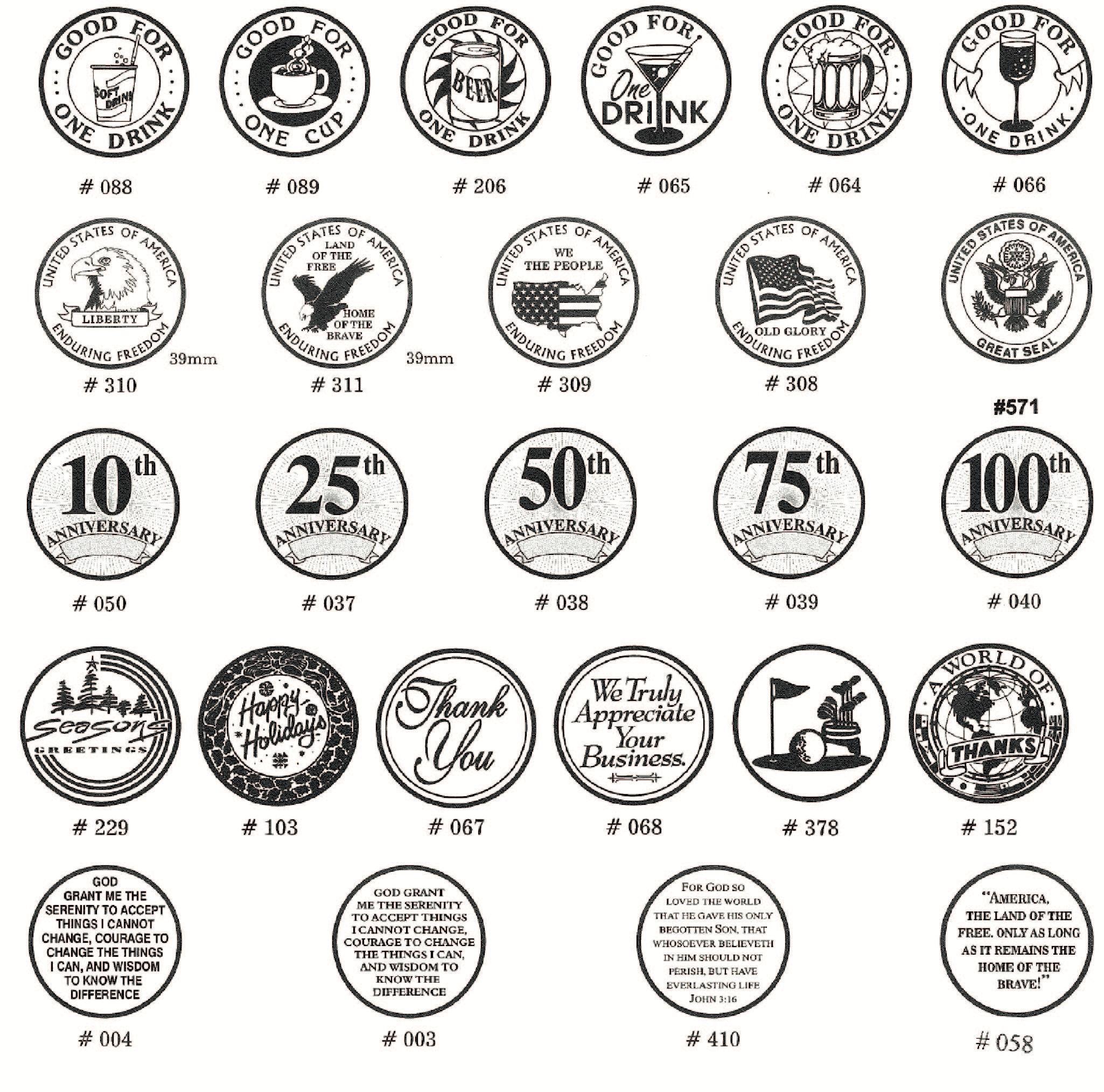 http://files.b-token.us/files/379/original/Aluminium tokens standard designs.jpg?1568362494